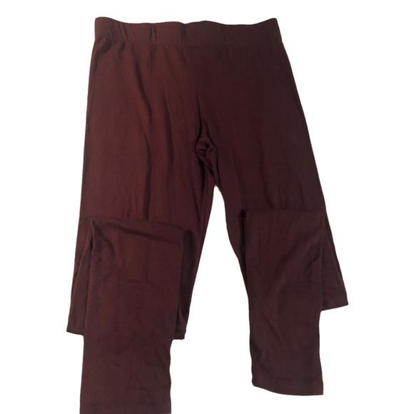 Aeropostale soft maroon leggings